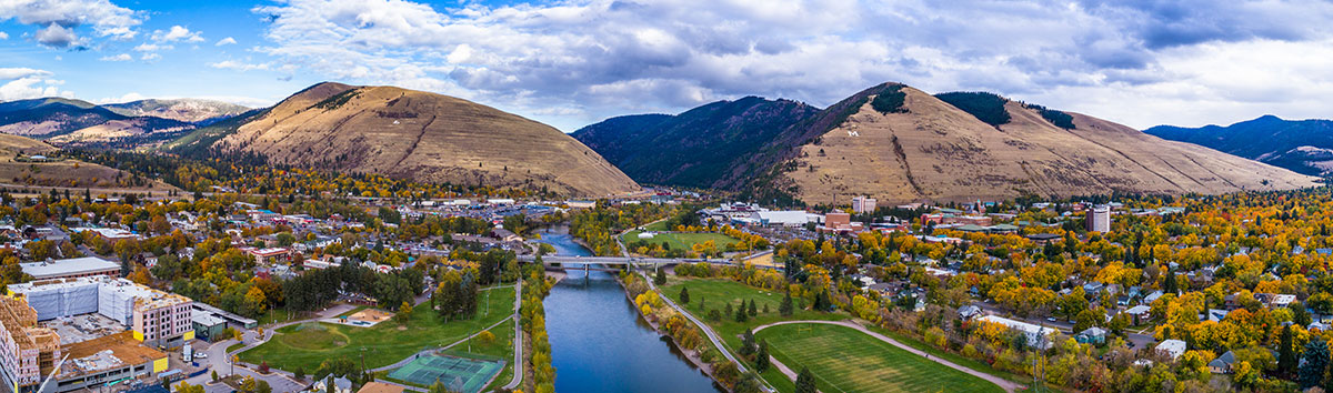 Panoramic view of Missoula, Montana